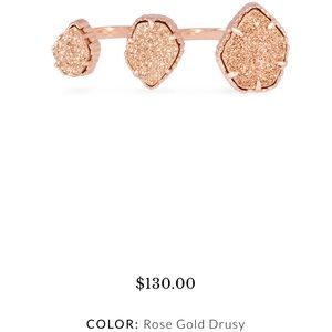 KS Naomi Ring in Rose Gold Drusy, NWOT